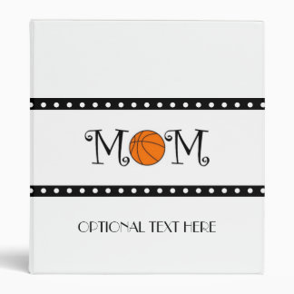 Basketball Mom 3 Ring Binder