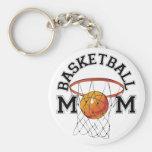 Basketball Mom Basic Round Button Keychain