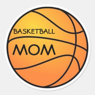 Basketball Mom Classic Round Sticker