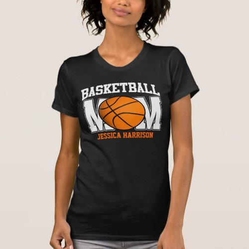 Basketball Mom dark T_Shirt