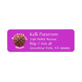 Basketball Mom Label
