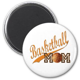 Basketball Mom Orange 2 Inch Round Magnet