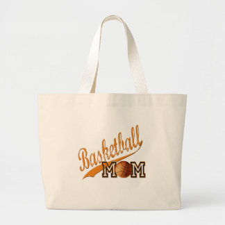 Basketball Mom Orange Canvas Bag