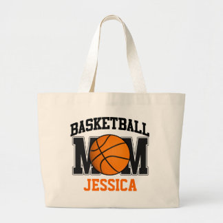 Basketball Mom Personalized Large Tote Bag