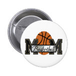 Basketball Mom Pinback Buttons