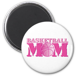 Basketball Mom Pink 2 Inch Round Magnet