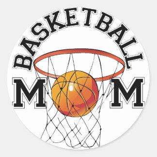 Basketball Mom Round Sticker