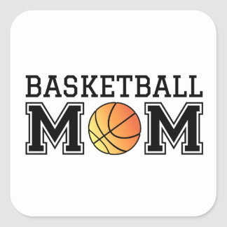 Basketball mom, text design for t-shirt, shirt square sticker