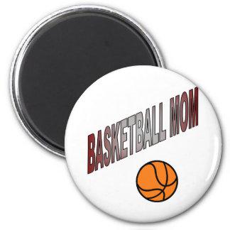 basketball mom-uploaded 2 inch round magnet