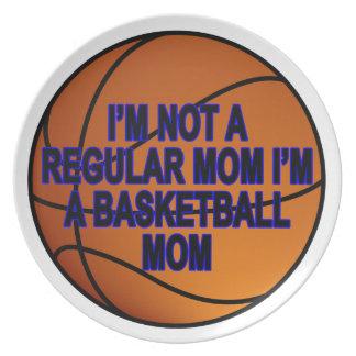 Basketball Moms T Shirts.png Melamine Plate