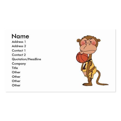 Basketball monkey business card templates