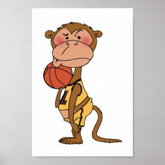 Basketball monkey poster