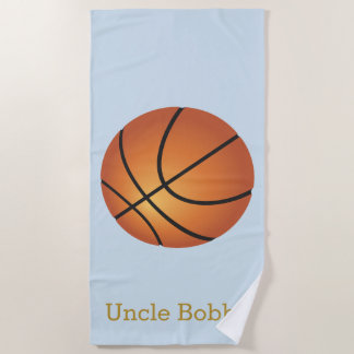 Basketball Monogram Beach Towel