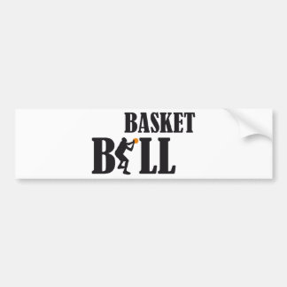basketball more player bumper sticker