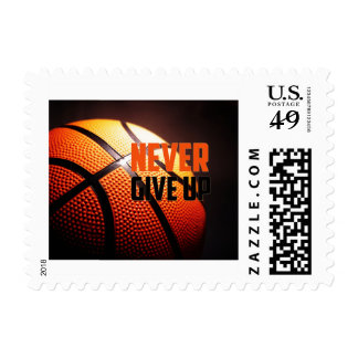 Basketball motivation - never give up by storeman postage