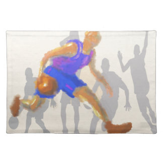 Basketball Moves Art Cloth Placemat