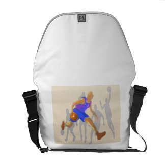 Basketball Moves Art Messenger Bag