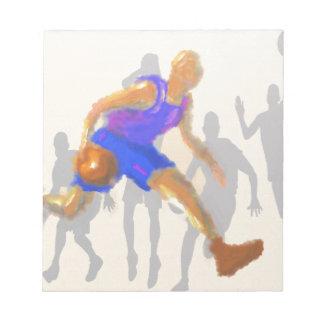 Basketball Moves Art Notepad