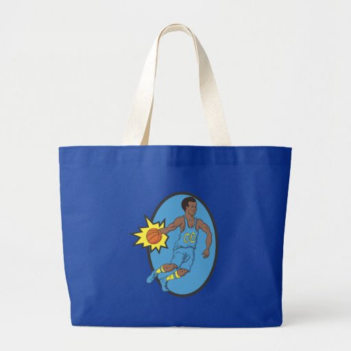 Basketball Moves - Yellow and Blue Tote Bag