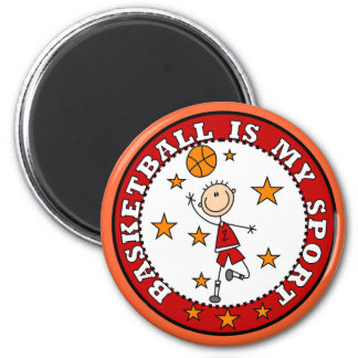 Basketball My Sport Tshirts and Gifts 2 Inch Round Magnet