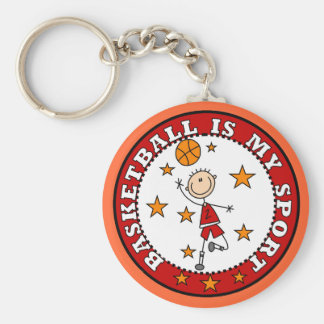 Basketball My Sport Tshirts and Gifts Keychain