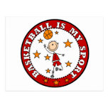Basketball My Sport Tshirts and Gifts Post Cards