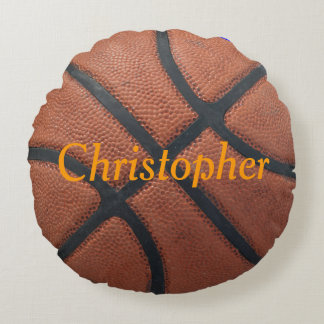 Basketball Name and Postition Round Pillow