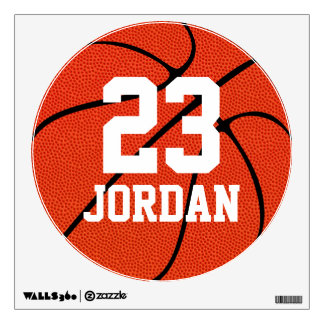 Basketball Name & Number Custom Locker Room Decals