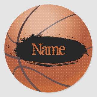 Basketball Name Sticker - Template