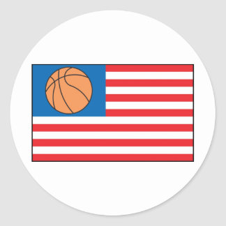 Basketball Nation Classic Round Sticker