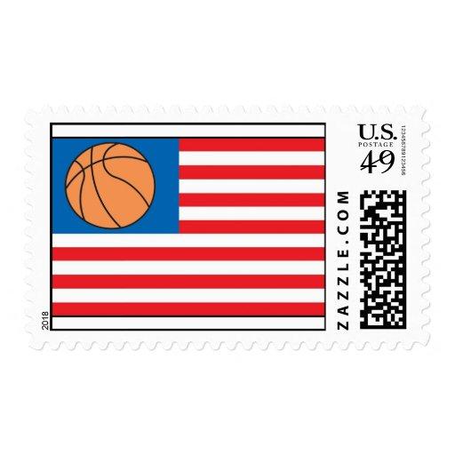 Basketball Nation Flag Postage