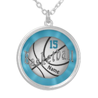 Basketball Necklace with NUMBER and NAME