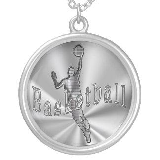 Basketball  Necklaces w/ Techno Basketball Player