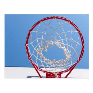 Basketball Net Below Blue Sky Postcard