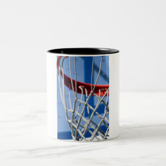 Basketball Net Closeup Two-Tone Coffee Mug
