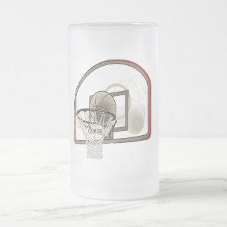 BASKETBALL NET FROSTED GLASS BEER MUG