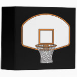 basketball net graphic 3 ring binders