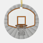 basketball net graphic ornament