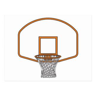 basketball net graphic postcard