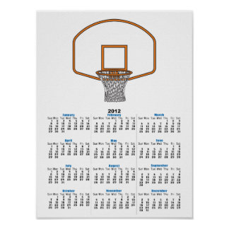 basketball net graphic poster