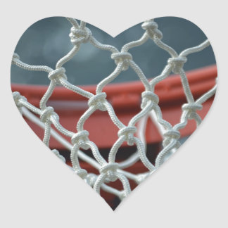 Basketball Net Heart Sticker