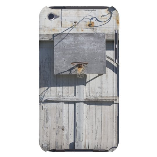 Basketball net on rustic building iPod touch Case-Mate case