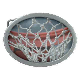 Basketball Net Oval Belt Buckle