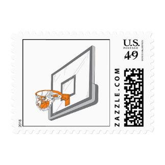 basketball net shot vector design postage stamp