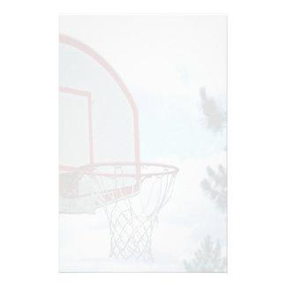 Basketball net personalized stationery