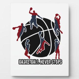 Basketball never stops plaque
