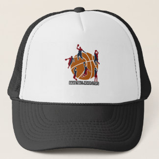Basketball never stops trucker hat