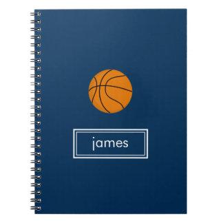 Basketball Notebook (Navy Blue)