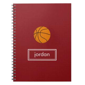 Basketball Notebook (Red)