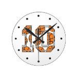 Basketball Number 10 Wall Clocks